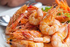Bake shrimp Stock Photos