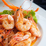 Bake shrimp Royalty Free Stock Photography