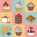 Bake and sweets color pattern Stock Image