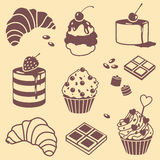 Bake and sweets set Royalty Free Stock Photography