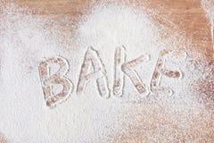Bake text Stock Photo