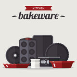 Bake ware. Vector illustration of various bake ware. Flat style Royalty Free Stock Image
