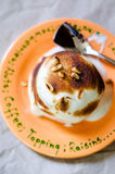 Baked Alaska cake Royalty Free Stock Photos