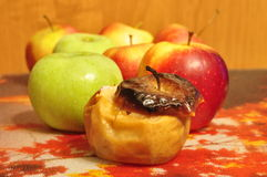 Baked apple. Royalty Free Stock Photography