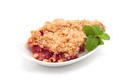 Baked Apple and cranberry crumble Royalty Free Stock Photos