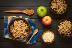 Baked Apple Crumble or Crisp Stock Photo