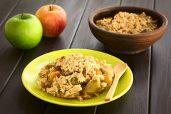 Free Baked Apple Crumble Or Crisp Royalty Free Stock Images - 53528269