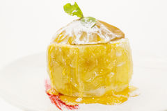 Baked apple with honey Royalty Free Stock Image