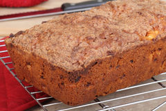 Baked Apple Nut Bread Stock Images