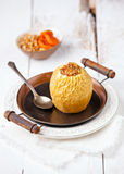 Baked apple with nuts and honey Stock Photography