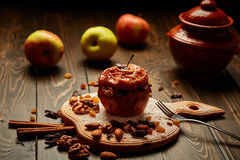 Baked apple Stock Photo