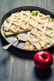 Baked apple pie Stock Image