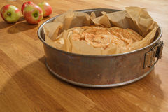 Baked apple pie and fresh apples Stock Photo