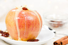 Baked apple Stock Photography