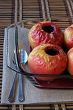 Baked apples. With currant jam Stock Images