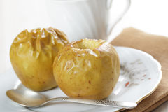 Baked apples Stock Images