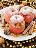 Baked apples Stock Image