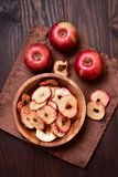 Baked apples chips Stock Image
