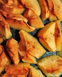 Baked apples with cinnamon close-up. Apples baked with cinnamon close-up Stock Photo