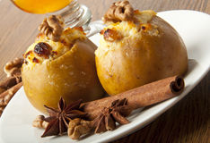 Baked apples with cottage cheese Royalty Free Stock Images