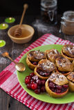 Baked apples with cranberries Stock Image