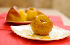 Baked apples with honey Stock Images