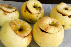 Baked apples Stock Photos