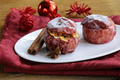 Baked apples with spices Stock Photography