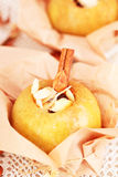 Baked Apples stuffed Royalty Free Stock Photography