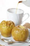 Baked apples and tea Royalty Free Stock Photo