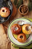 Baked apples, top view Royalty Free Stock Photos