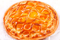 Baked apricot pie Stock Photos