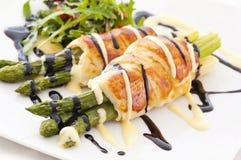 Baked asparagus Stock Photo