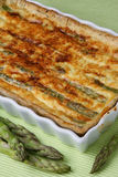 Baked asparagus pie Royalty Free Stock Images