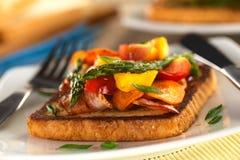 Baked Asparagus Sandwich Royalty Free Stock Photo
