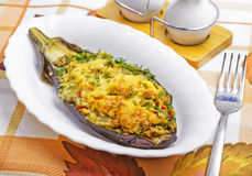 Baked aubergine Royalty Free Stock Photography
