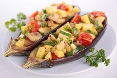Baked aubergine Stock Images