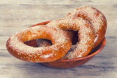 Baked bagels Stock Photography