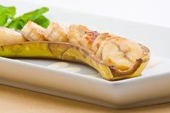 Baked banana Stock Image