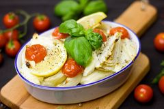Baked, Basil, Bowl Royalty Free Stock Images