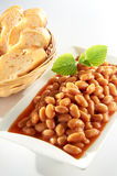 Baked Bean. Wit clean table setting Stock Image