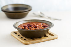 Baked Bean Bowl Stock Photography