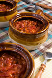 Baked Bean Crocks Royalty Free Stock Images