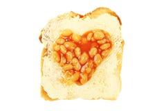 Baked bean heart Stock Photography