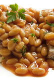 Baked Beans. On toast, in closeup. Delicious Royalty Free Stock Photo