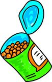 Baked beans stock illustration