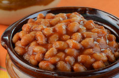 Baked beans. In individual ceramic bowl Stock Photo
