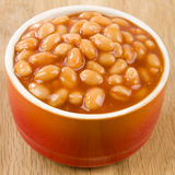 Baked Beans. Bowl of  in tomato sauce Stock Image