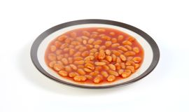 Baked beans. On a plate stock image