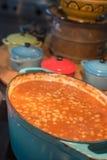 Baked beans for breakfast Stock Image